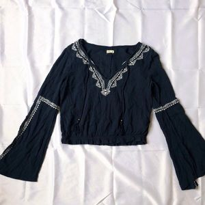 Gorgeous Flowy Peasant Blouse with Embroidery